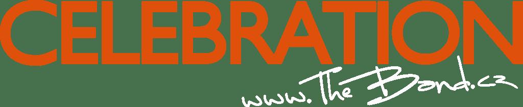 CELEBRATION - logo oranžová bílá transparent